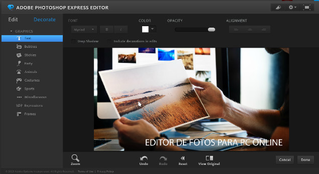 Photoshop Express Editor Online