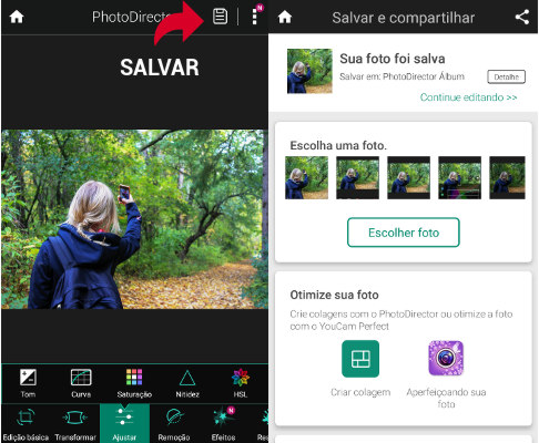 Salvar Foto PhotoDirector